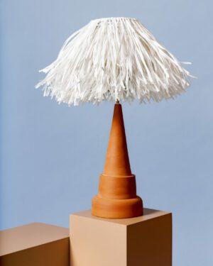 """Tiki White"" Table Lamp"