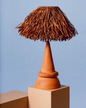 """""""Tiki Brown"""" Table Lamp"""