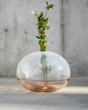 """""""Brina"""" Murano Glass Vase / Low"""