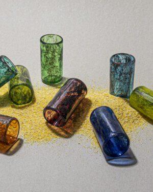 """""""Tasting Threads"""" Shot Glass, Murano Tableware"""