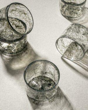 """Tasting Threads"" Small Glass, Murano Tableware"