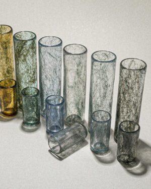 """Tasting Threads"" Long Glass, Murano Tableware"