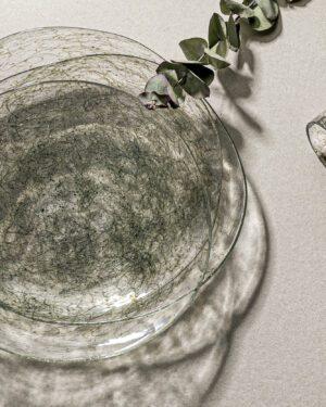 """Tasting Threads"" Large Plate, Murano Tableware"