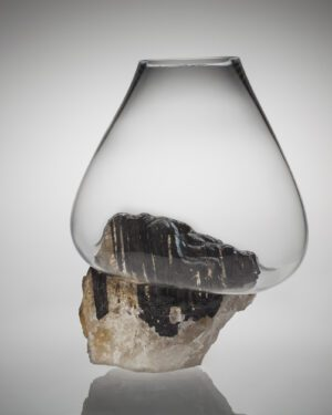"""""""Black Tourmaline + Quartz"""" vase from the Crystals Collection"""