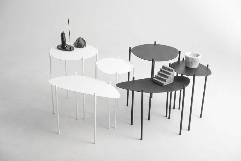 "Black ""Archipiélago"" Nested Table Set"