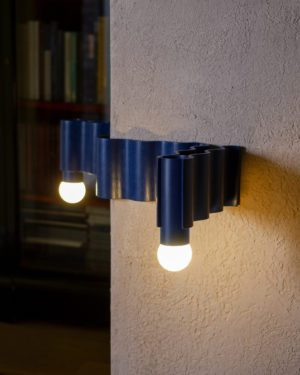 Corrugation Lights - Double Sconce, around the corner
