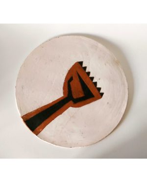 """""""The Hospital Church"""" slab plate"""