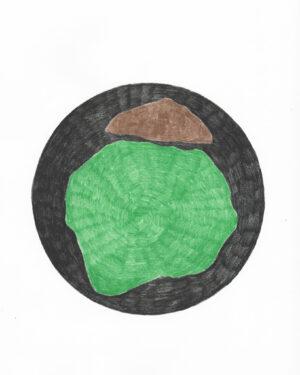 """Les Coloriés"" drawing N°12/12"
