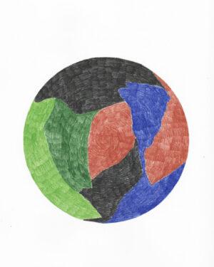 """Les Coloriés"" drawing N°2/12"