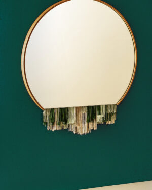 """Fringe"" mirror green"