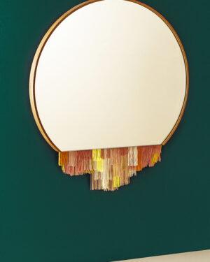 """Fringe"" mirror pink"