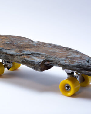 """""""Rock and Roll"""" stone skateboard"""
